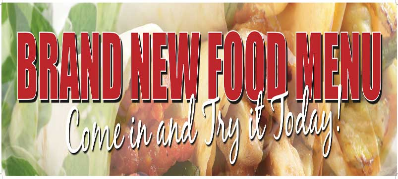 Brand New Food Menu